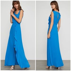 BCBGMaxAzria Maxi Blue Sleeveless Dress